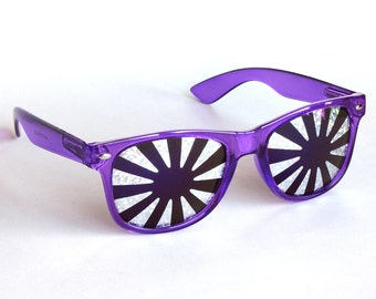 Rasslor Festival Silver Burst Sunglasses