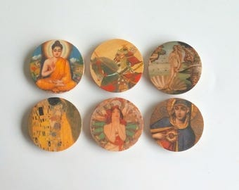 Objectify Icons Print Refrigerator Magnets - Set of 6
