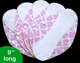 Pantyliners 9'' - Bella Pink - Washable - Reusable coth pads - Eco-friendly