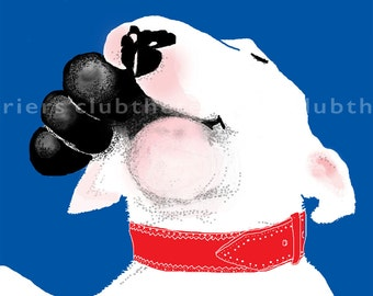 Jolly English Bull Terrier with Kong Card