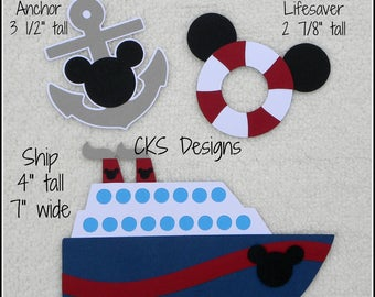 Die Cut Disney Cruise Ship Scrapbook Page Embellishments for Card Making Scrapbook or Paper Crafts