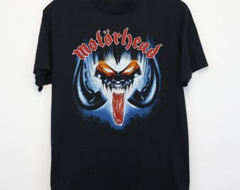 Motorhead Shirt Vintage tshirt 1987 Eat The Rich Concert Tee Rock N' Roll 1980s Lemmy Würzel Philthy Animal Chris Campbell Heavy Metal 80s