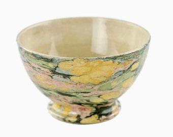 Antique Maastricht Societe Ceramique Pottery Marbleized Cafe au Lait Bowl