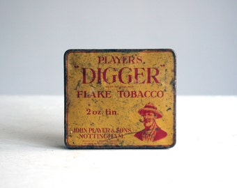 vintage player's digger cut plug empire grown tobacco tin