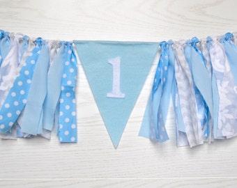 Boy Birthday banner - Boy 1st Birthday banner - Snowflake Birthday - winter onederland party - snowflake banner - boy winter onederland