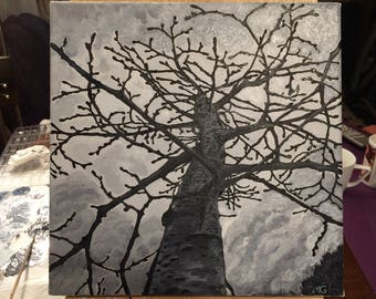 Tree Oil Painting on Canvas