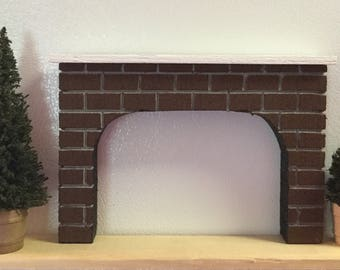 HO Scale DOUBLE TRACK Tunnel Portals For Model Railroad Train Layouts- Set of 2 / Fireplace Mantel for Doll House Designs