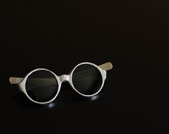 1960's Round Silver Sunglasses Made in Italy