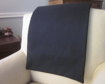 """Headrest Chair Protector or Cover, Black Burlap-Like Fabric, 30"""" x 14"""", Recliner/Chair/Sofa Head Rest Cover, For Fabric or Leather"""