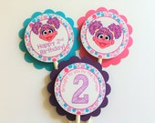 12 Abby Cadabby Birthday Party Cupcake Toppers