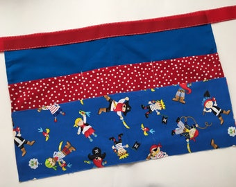 Classroom Apron- pirates (red & blue)