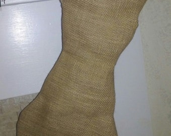 Cat Stocking in Burlap for Fur Baby - Fully Lined