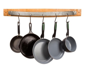 Wine Barrel Pot Rack