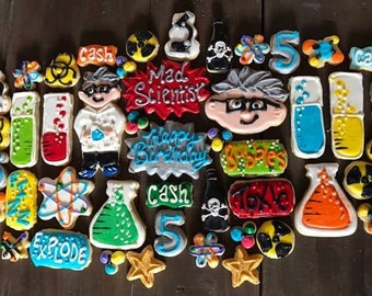Mad Scientist Cookies for a Tray