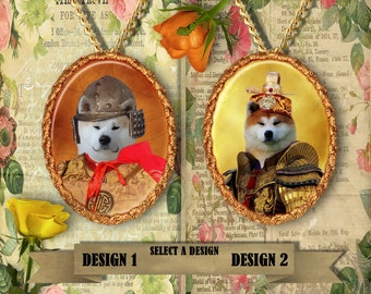 Akita Inu Jewelry - Pendant - Brooch  – Dog Jewelry -Dog Jewellery – Dog Pendant – Dog Brooch by Nobility Dogs