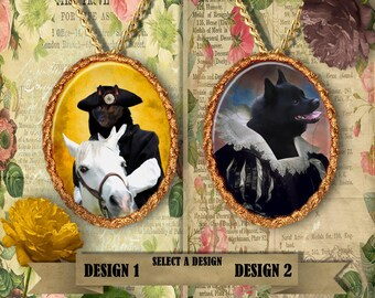 Schipperke Jewelry.  Schipperke Pendant or Brooch. Schipperke Necklace. Schipperke Portrait. Custom Dog Jewelry by Nobility Dogs.