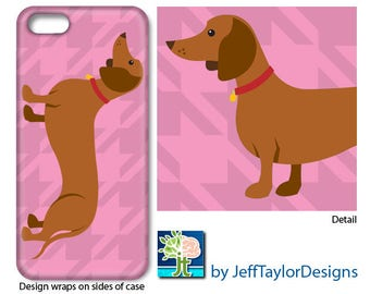Dachshund Phone Case for iPhone 5/5s, iPhone 6, iPhone 7 - 2 Case Styles