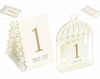 Ceremony Placeholder Numbers Set of 15