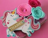 Unicorn Gift Card Holder, Trinket Box, Unicorn Keepsake Tin, Birthday, Teacher's Gift Card Holder, Dancing Unicorn