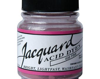 Jacquard Acid Dyes For Silk, Wool, and other Protein Fibers-#608 PINK (.5oz)