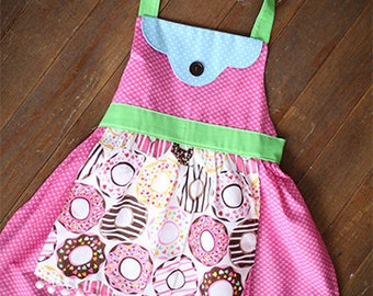 For the Love of Donuts Girls Apron