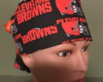 NFL Cleveland Browns ponytail scrub cap