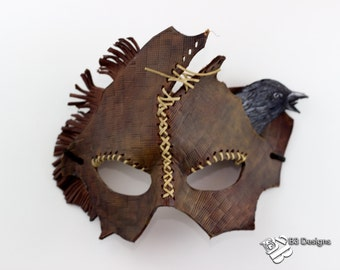 Fantasy Scarecrow Leather Mask