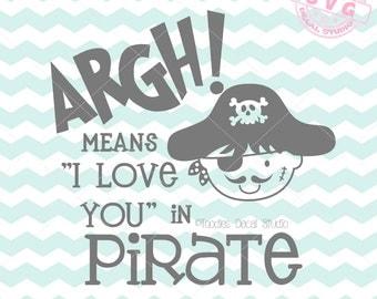 argh means I love you in Pirate SVG Vector Art, Pirate Art Instant Download, Nursery SVG cricut, Vinyl Cutter clipart, DIY Nursery -tds243