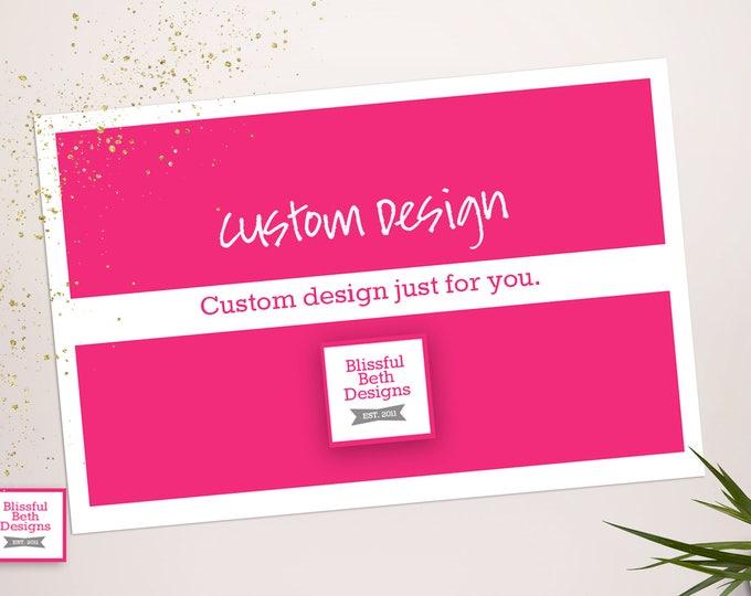 Featured listing image: CUSTOM INVITATION Custom Designed Invitation