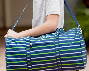 FREE Personalization ~ Personalized Duffel Bag ~ Boys Monogrammed Travel Bag ~ Personalized Overnight Bag ~ Shoreline Duffel Bag ~Quick ship