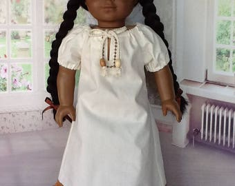 American Girl Doll or 18 inch doll dress.  Native American peasant styled doll dress.
