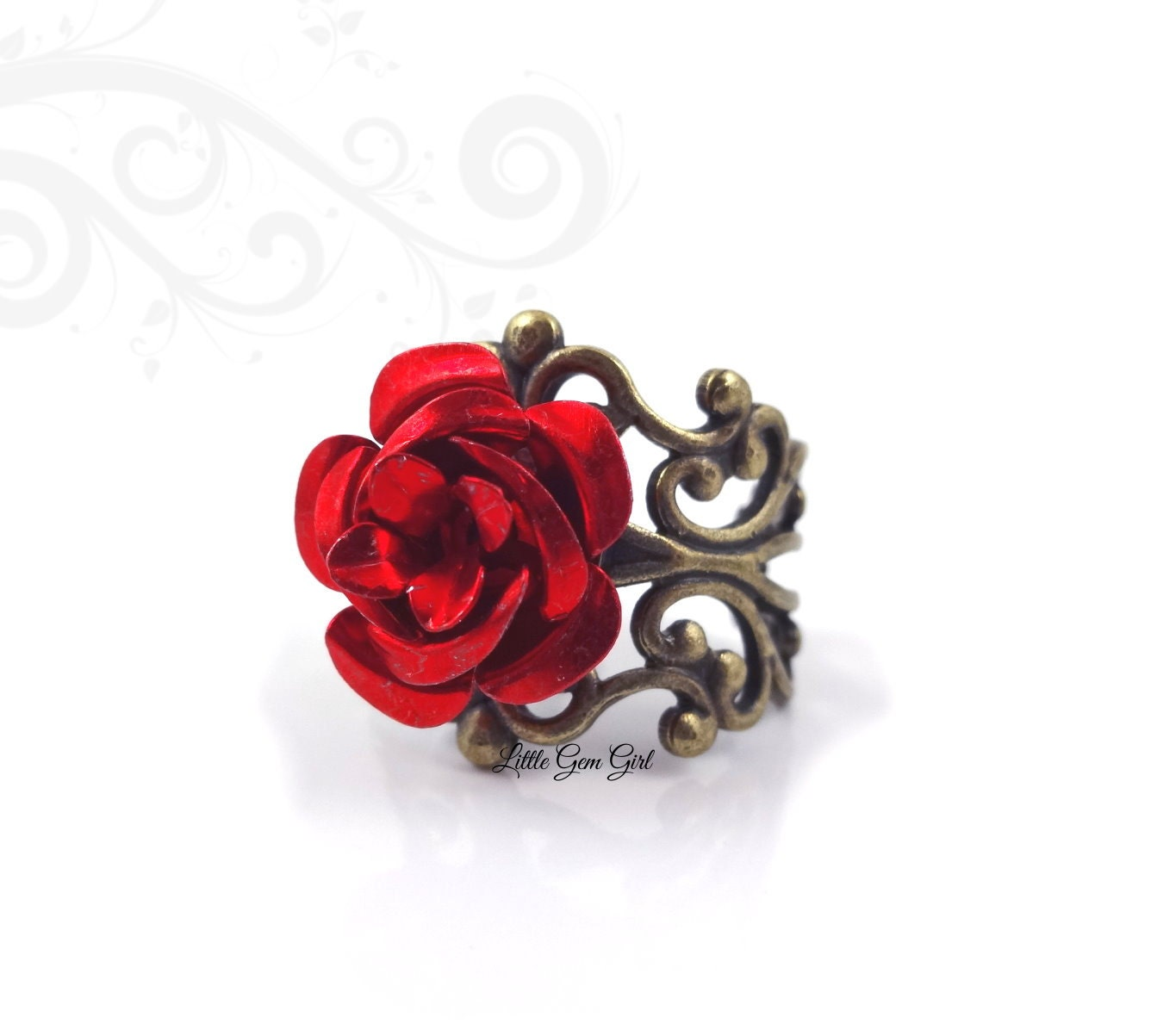 Red Rose Ring Beauty And The Beast Rose Ring Enchanted