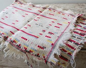 Vintage Boho Woven Table Runner Vintage Cloth Bohemian Decor Boho Table Runner Colorful Embroidered