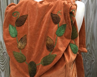 Autumn Faerie Backpack-woodland bag-backpack-hiking bag-forest backpack-leaf bag-rucksack-fairy bag-woodland accessory