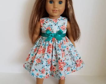 18 Inch Doll-American Girl Dress: Pretty Roses