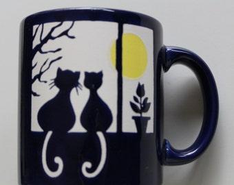Vintage Waechtersbach Cats in Window Coffee Mug 1980s
