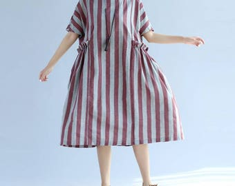 Gray/ red Leisure summer dress