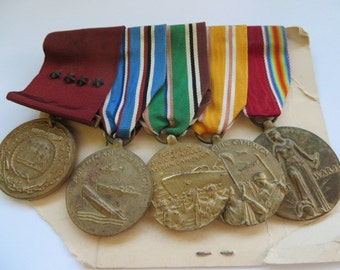 US WW2 Navy Named Medal Group
