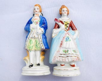 Occupied Japan Figurines Vintage Hand Painted Man and Woman
