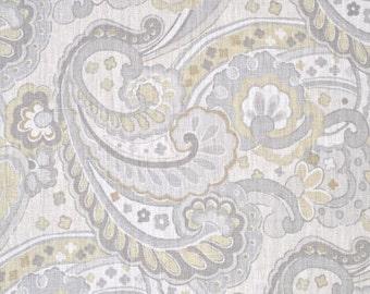 Two 26 x 26 Custom Euro  Pillow Covers Linen  - Portfolio Paisley Walmsley Sterling Grey