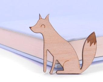 Fox Brooch - Rustic Wooden Brooch - Gift For Women - Fox Gift - Gift For Her - Fox Pin - Fox Lover Gifts - Wooden Fox Brooch