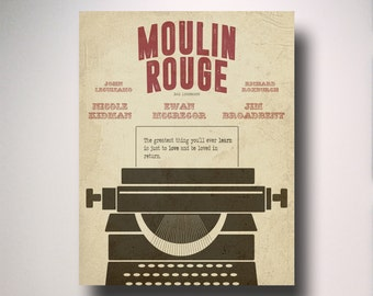 Moulin Rouge Inspired Minimalist Movie Poster
