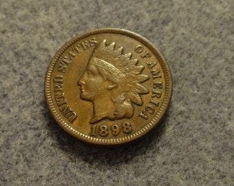 1898 Indian Head Cent- Full LIBERTY