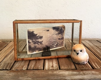 Vintage Wood and Glass Display Case