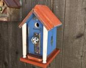 Best Birdhouse Handmade Recycled Outdoor Garden Primitive Bird House, Rustic Decorative Bird's House, Birdhouses, Item#BH93928