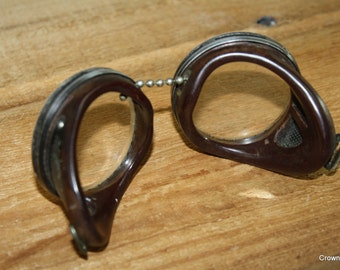 Steampunk Goggles - Vintage - Supplies - Assemblage