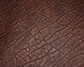 """Leather 20""""x20"""" (new dye lot)ELEPHANT Chocolate Brown Embossed Cowhide 2.5-3oz/1-1.2 mm PeggySueAlso™ E2899-15"""