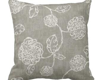 neutral pillows, grey pillow covers, couch pillows, decorative pillows, floral pillows, euro shams, throw pillows, pillow set
