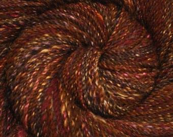 Hand spun yarn - Hand painted Silk / BFL wool, DK weight - 310 yards - Foxy Tweed