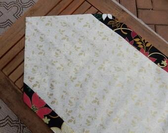Christmas Table Runner Pointsettia Decor Gift